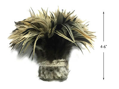 1 Yard - Natural Golden Badger Strung Chinese Rooster Saddle Wholesale Feathers