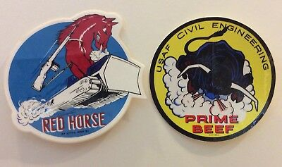USAF Air Force Stickers Prime BEEF & RED HORSE