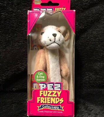 Pez Fuzzy Friends Brutis The Bulldog ,Cuddly Dispenser With Backpack Clip 2002