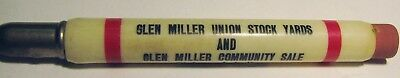 "Vintage Advertising ""GLEN MILLER STOCK YARDS"" Richmond Indiana BULLET Pencil"