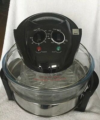 Halogen Convection Oven Low Fat Cooking Air Fryer Glass Bowl