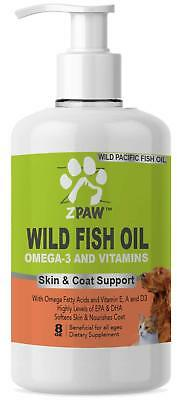 ZPAW Wild Fish Oil Omega 3 and Vitamins for Dogs and Cats, Skin and Coat Support