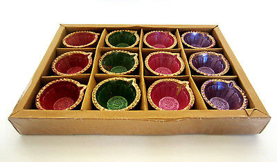 ****Set of 12 Small Colorful Diwali Diva/Dyia's without wax *****