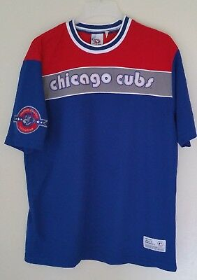 Vintage True Fan MLB Chicago Cubs Baseball Heavyweight Polyester Shirt Men Large