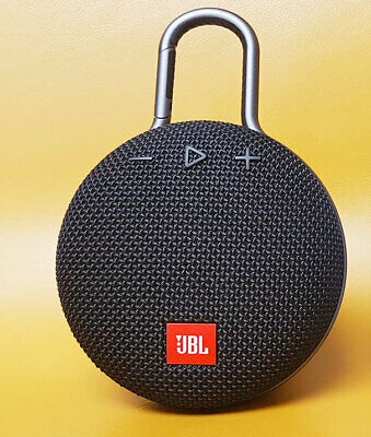 JBL JBLCLIP3BLK Clip 3 Portable Waterproof Wireless Bluetooth Speaker - Black