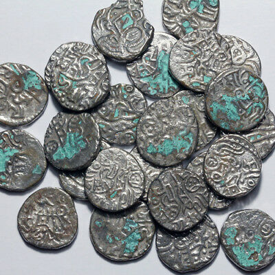 lot of 25 Unknown Islamic Billon Silver Medieval Hammered coins circa 900-1200AD