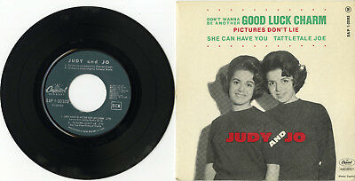 """""""JUDY and JO"""" Good luck charm / Pictures don't lie +2 (EP 45tours français)"""