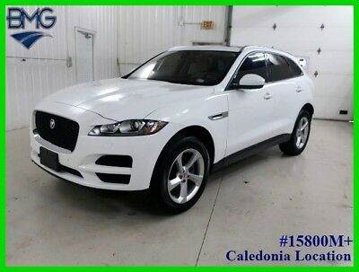 2018 Jaguar F-PACE 25t Premium Theft Recovery Rebuilt Title 12k Miles White AWD Navigation Panoramic Moon Roof Heated Steering Wheel Leather Seats 4x4