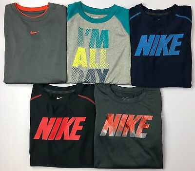 Boy's Little Youth Nike Dri-Fit Long Sleeve Polyester Shirt