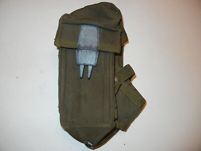 US Military Army OD Ammo Pouch Case Alice Mag Pouch 3 Magazines Vintage Buckle