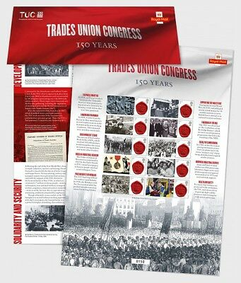 GREAT BRITIAN 2018 TUC Commemorative Sheet - Collectibles