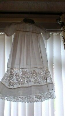 victorian christening gown ,beautifull,fit new baby