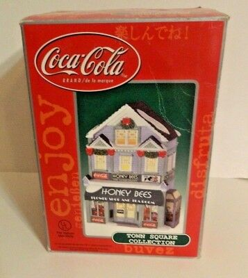 Coca Cola Town Square Collection Honey Bees Flower Shop and Tea Room 2001 w/ Box