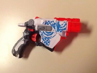 White Nerf Vortex Proton Disc Shooting Gun Hasbro 2010