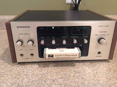 Pioneer H-R99 H-R100 8 Track Tape Deck Player Recorder Very Nice