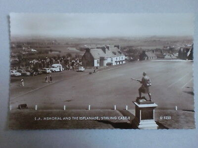 Stirling Castle S.A. Memorial Esplanade Vintage Cars Bus Animated RP Real Photo