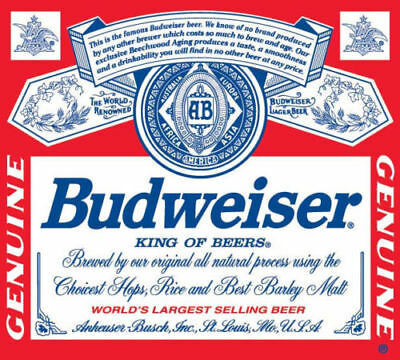 Budweiser vinyl sticker decal for skateboard luggage laptop tumblers