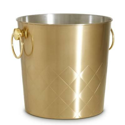 Ice Bucket Gold Brushed Cooler Wine Champagne Party Bar Vonshef Drinks Cool Bowl