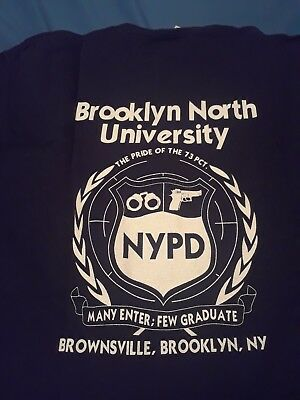 RARE NYPD New York City Police Department Vintage T-Shirt Sz XL Brooklyn 73 Pct