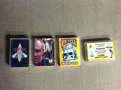 Novelty Playing Card Decks:Walking Dead Ron Jon Surf Florida Club Tattoo Bicycle