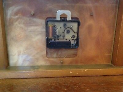 Vintage Retro 1960s Metamec Mantle Clock Made In Great Britain battery operated