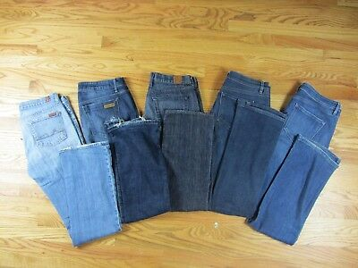 7 For All Mankind Joes Lucky Brand Ann Taylor Loft LOT of 5 Jeans Womans Size 29