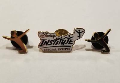 """Disney Institute """"Special Events"""" Cast Exclusive Pin Lot of 3 RARE Gold"""