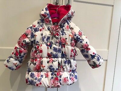 Rothschild R1881 Girls Size 24 Months Floral Puffer Coat Winter Snow Jacket