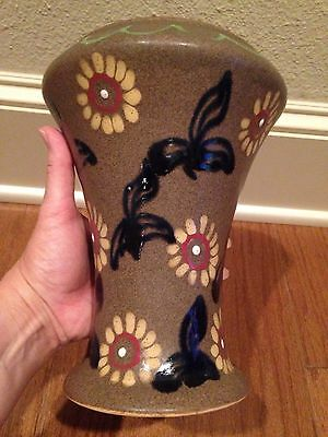 RARE Antique Carl Gebauer German Art Pottery Ceramic Vase Flower Circa 1919-1929