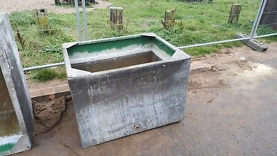Massive Old Vintage Galvanized Water Tank. Garden Planter Tub. two available