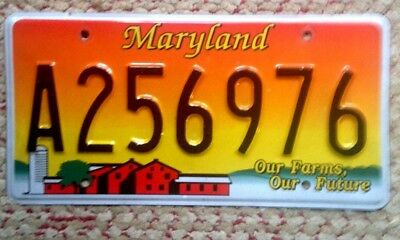 Maryland Graphic License Plate Farms Farming Agriculture Barn Our Future Md