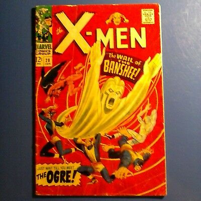 The X-Men #28 (Jan 1967, Marvel) the first appearance of the Banshee