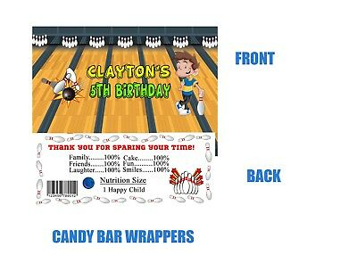 Bowling Candy bar wrappers, Bowling, Birthday, Candy bar wrappers, Bowl