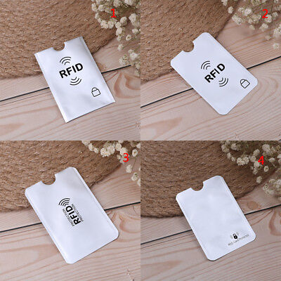 10pcs RFID credit ID card holder blocking protector case shield cover  Q Q