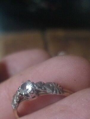 Vintage Gold Solitaire Ring 9ct? 18ct? diamond? 1930s-1950s- NZ Estate