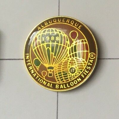 1988 17th Annual Albuquerque Official AIBF Balloon Pin
