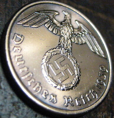 Rare Ww2 German War Relic Reichs Pfennig...