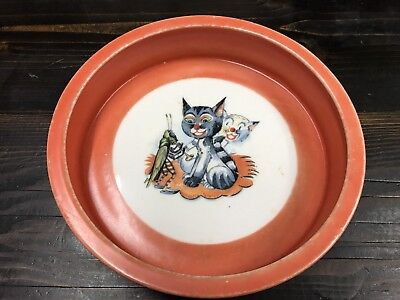 Rare Art Deco Childrens Ceramic Bowl Volkstedt Breyer And Bock Made In Germany
