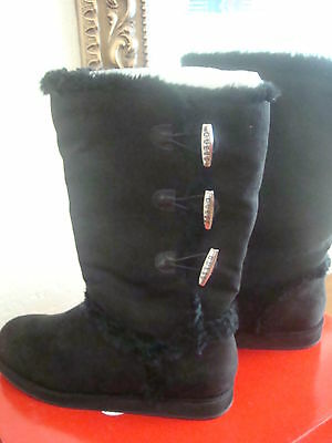 NEW AUTHENTIC GUESS Boot By Suede Marciano Edesia schwarz Suede By  Leder ... 72c738