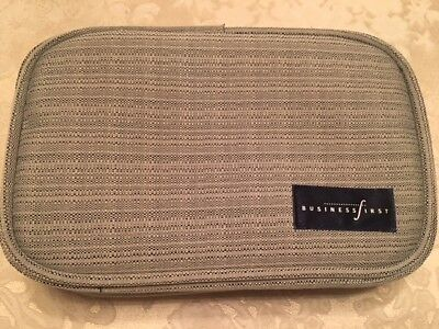3 Continental Airlines First Class Business Amenity Bags NEW