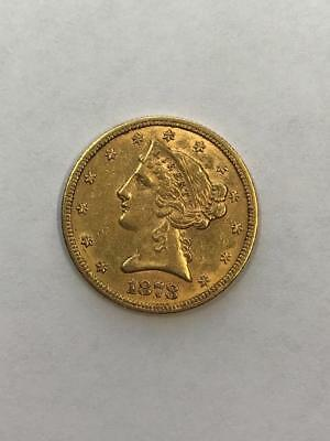 Uncertified 1878-S $5 Liberty Gold Coin.!!