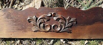 Antique Wood Furniture w/ Applique Salvaged Mirror Bottom Part for Pediment