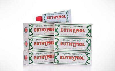 Euthymol Original Toothpaste, Fluoride-free 75ml Multibuy Pack of 12 **New**