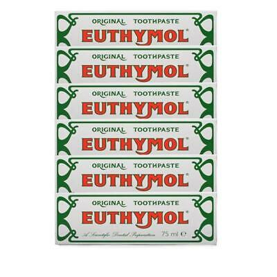 Euthymol Original Toothpaste, Fluoride-free 75ml Multibuy pack of 6