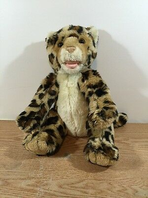 "Build a Bear Leopard Beige Belly 12"" Plush"