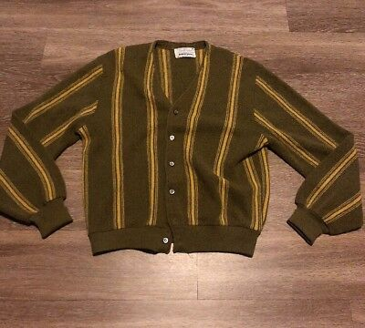 ARNOLD PALMER ROBERT BRUCE Vintage Alpaca Wool Blend Cardigan Sweater Sz Medium