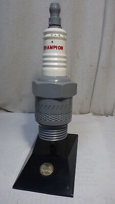 Vintage Champion Spark Plug Transistor Radio Advertising Auto Chevy Ford   L@@k