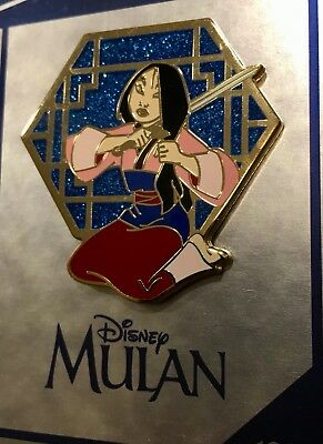 Disney Store DS Mulan Cutting Hair To Become Ping 30th Anniversary Pin DLR WDW