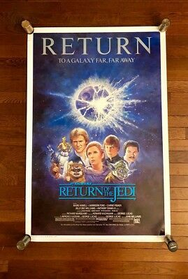 """1985 Return of the Jedi One Sheet Rolled Re-release Movie Poster 27"""" x 41"""""""