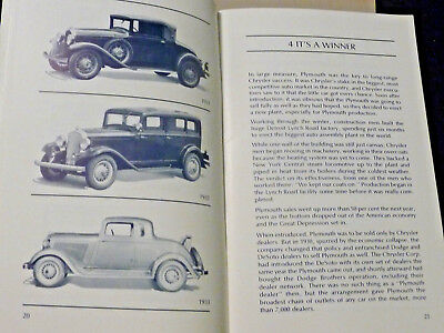 Plymouth Its First Fifty Years 1978 Near Mint Book Great History Of Automobile
